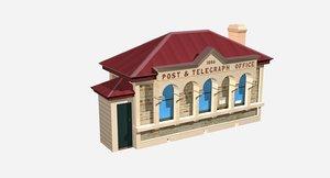 post office building model