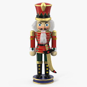 wooden nutcracker 3D model