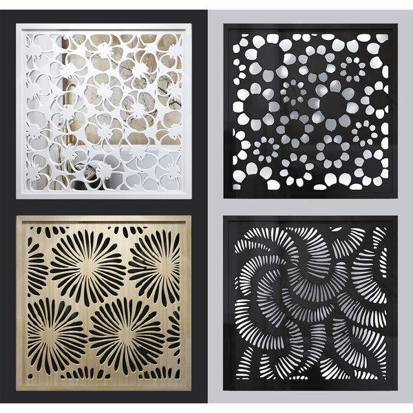 3D model lattice decorative