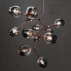 branching bubble 12 lamps 3D model