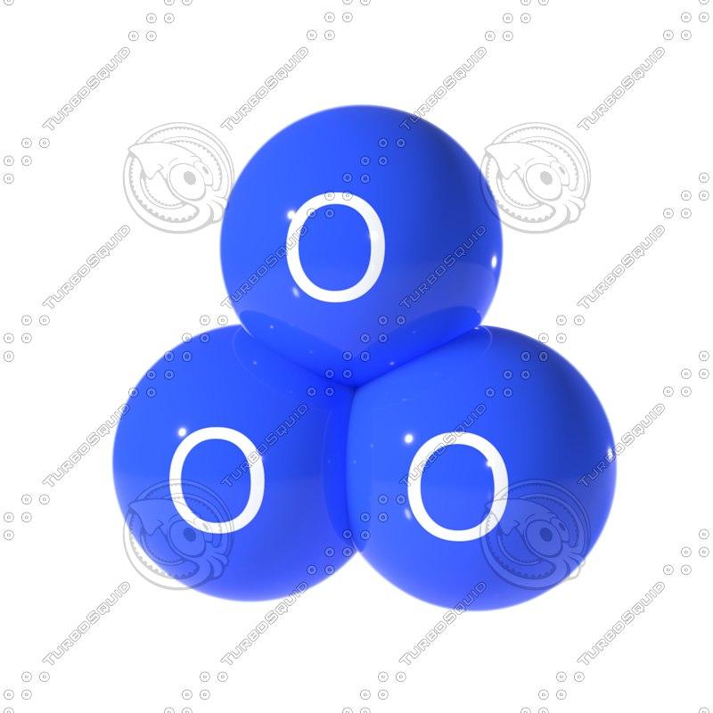 ozone molecule 3D