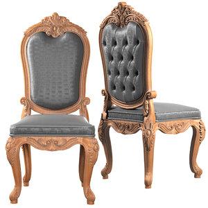 3D model asnaghi chair interiors la