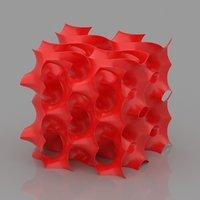 gyroid cube print 3D model