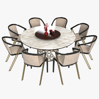 3D longhi manfred designer dining table