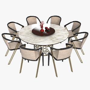 3D longhi manfred designer dining table