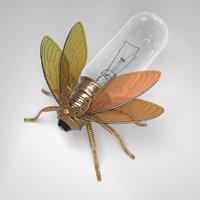 3D steampunk fly model