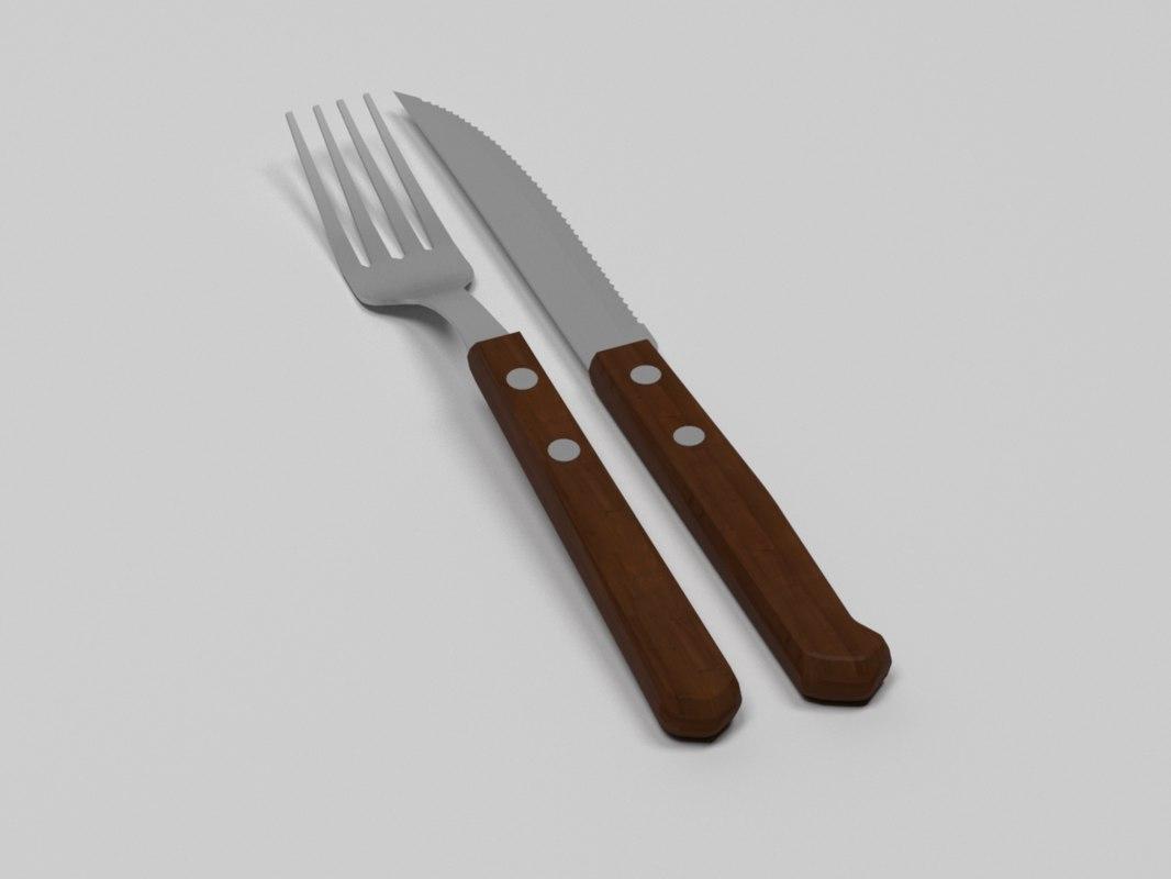 3D fork knife model