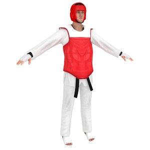 taekwondo martial artist 3D model