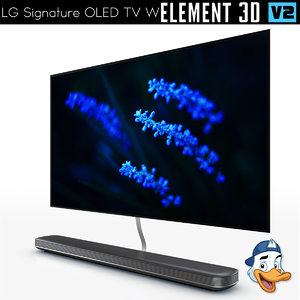 3D lg signature oled tv