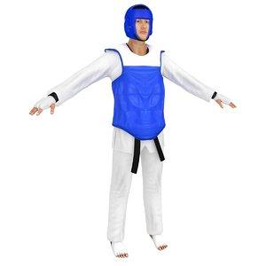 3D model olympic taekwondo