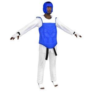 3D olympic taekwondo model