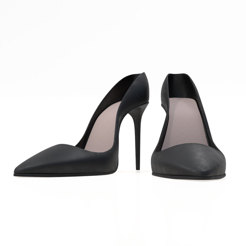 3D heel lady shoes