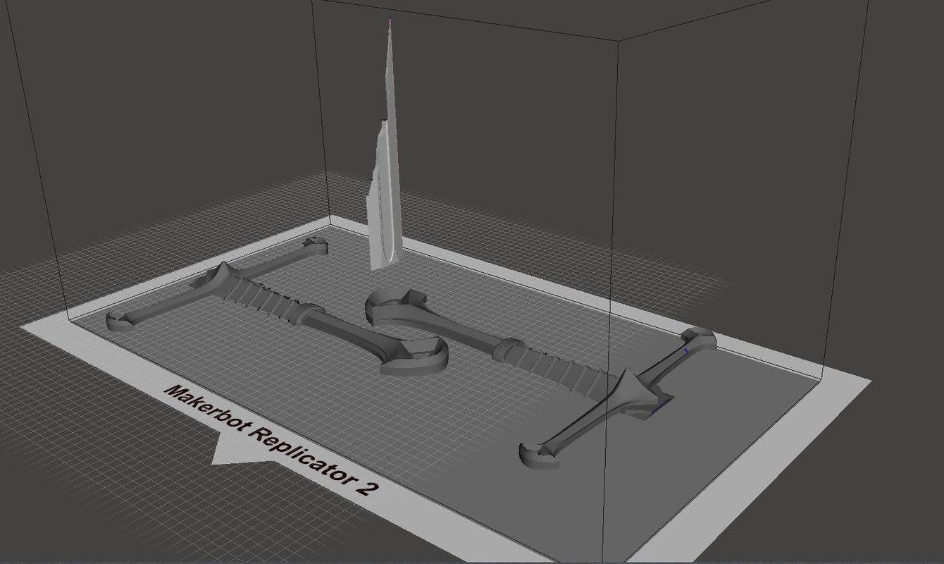 3D narsil sword anduril model