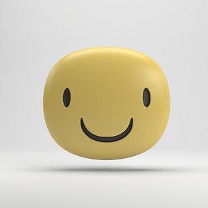 facebook smiling sticker 3D model