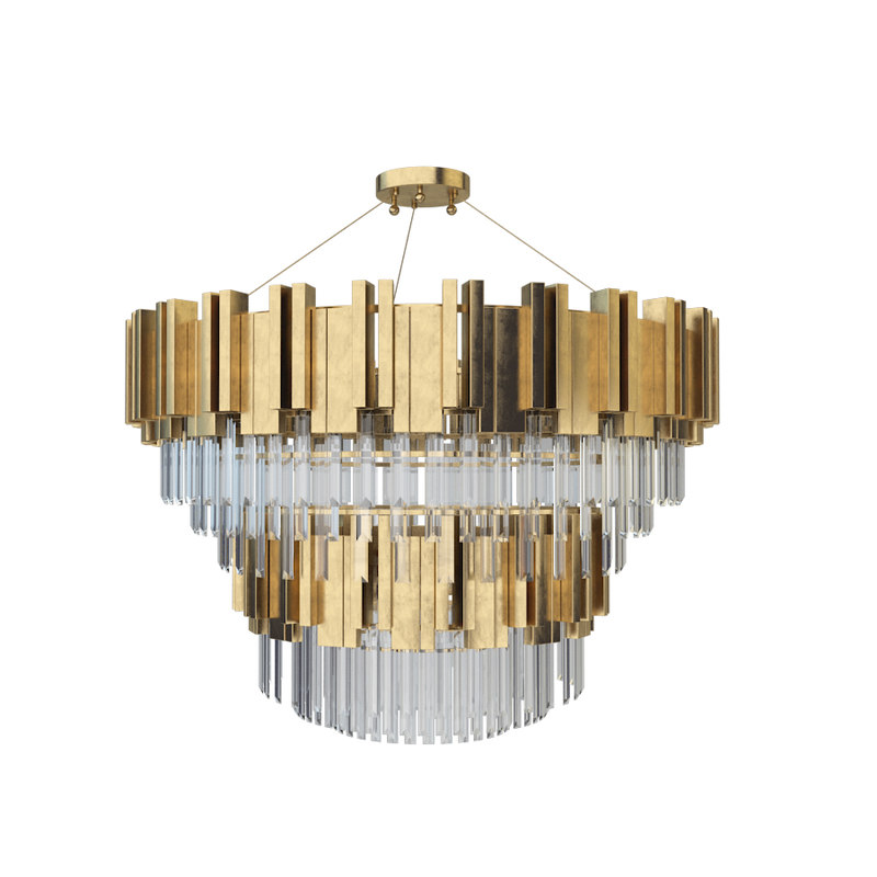 3D zhongshan laiting big chandeliers model