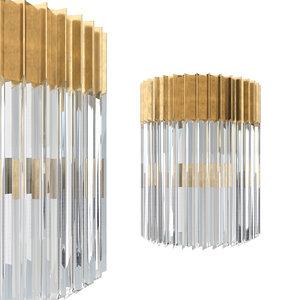 3D corbett lighting 220-12 sconce model