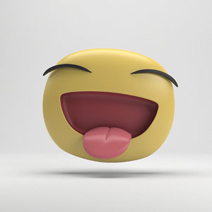 facebook laughing sticker 3D model