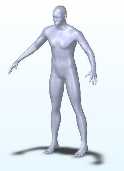 3D male human dummy