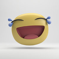 facebook tears joy sticker 3D