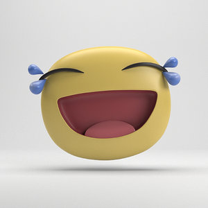 facebook tears joy sticker 3D