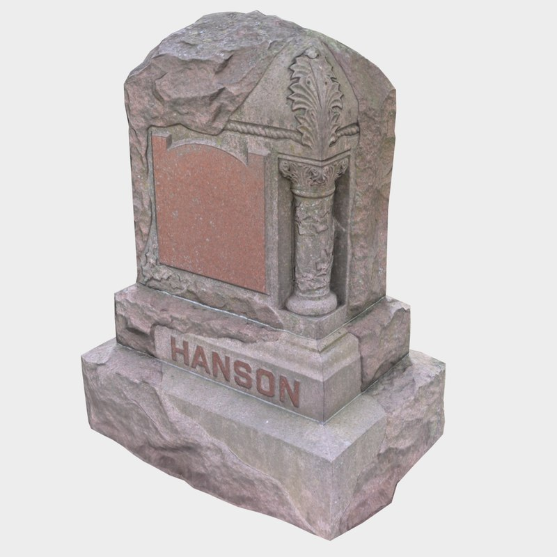 tombstone stone 3D model