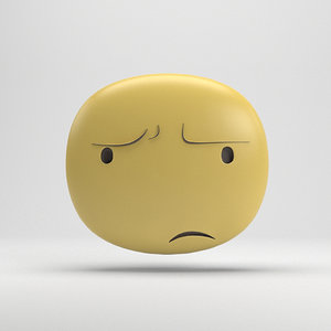 facebook sticker angry 3D model