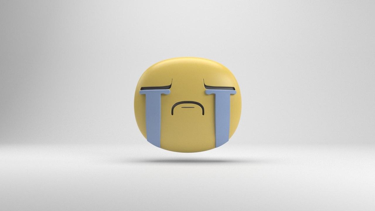 facebook crying sticker 3d model turbosquid 1293036