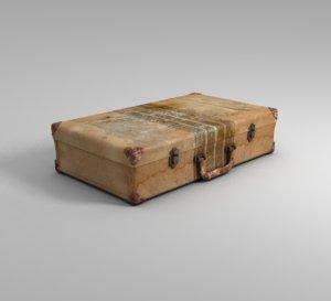 3D suitcase retro emigrants
