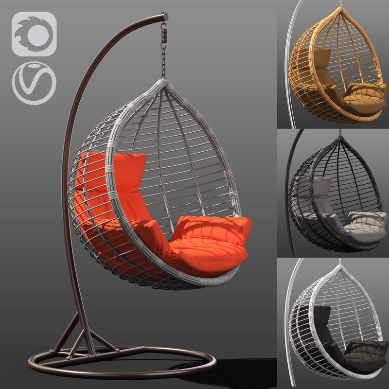 3D chair acapulco 4 colors