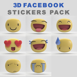 facebook stickers pack 3D