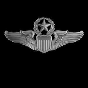 3D usaaf command pilot wings