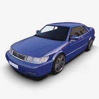 3D model pbr mobile sportcar aero