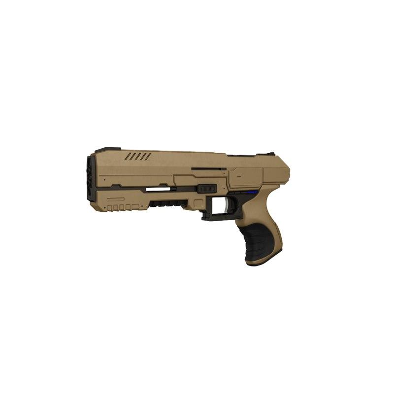 3D sci-fi pistol model