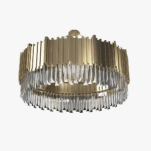 3D luxxu empire suspension chandelier model