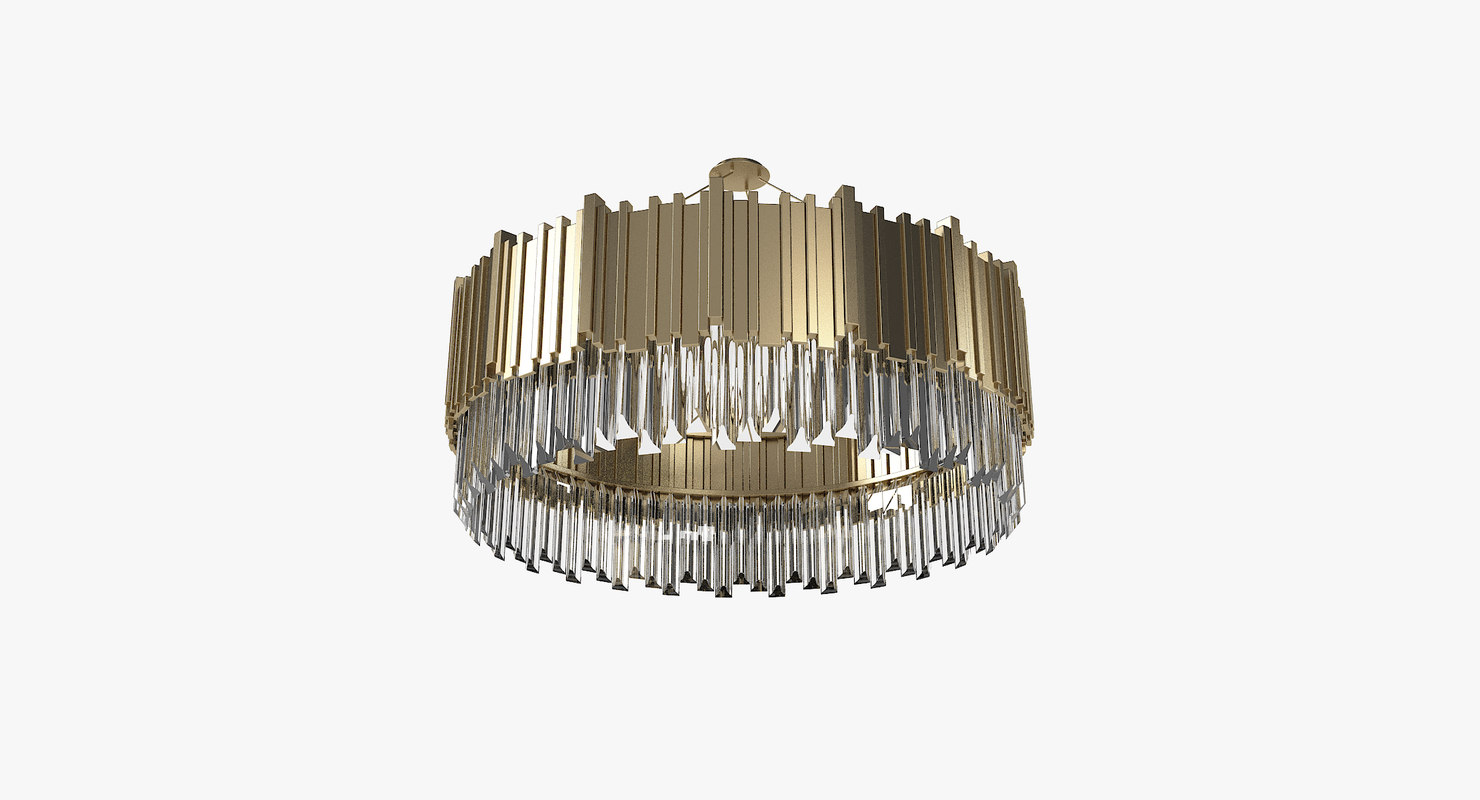 3D luxxu empire suspension chandelier model