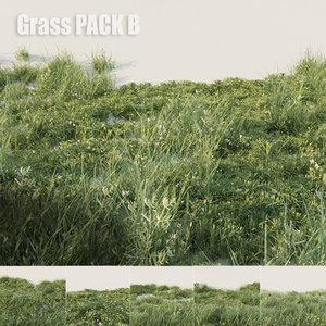 3D grass pack b