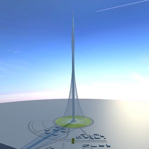 dubai creek tower harbor 3D