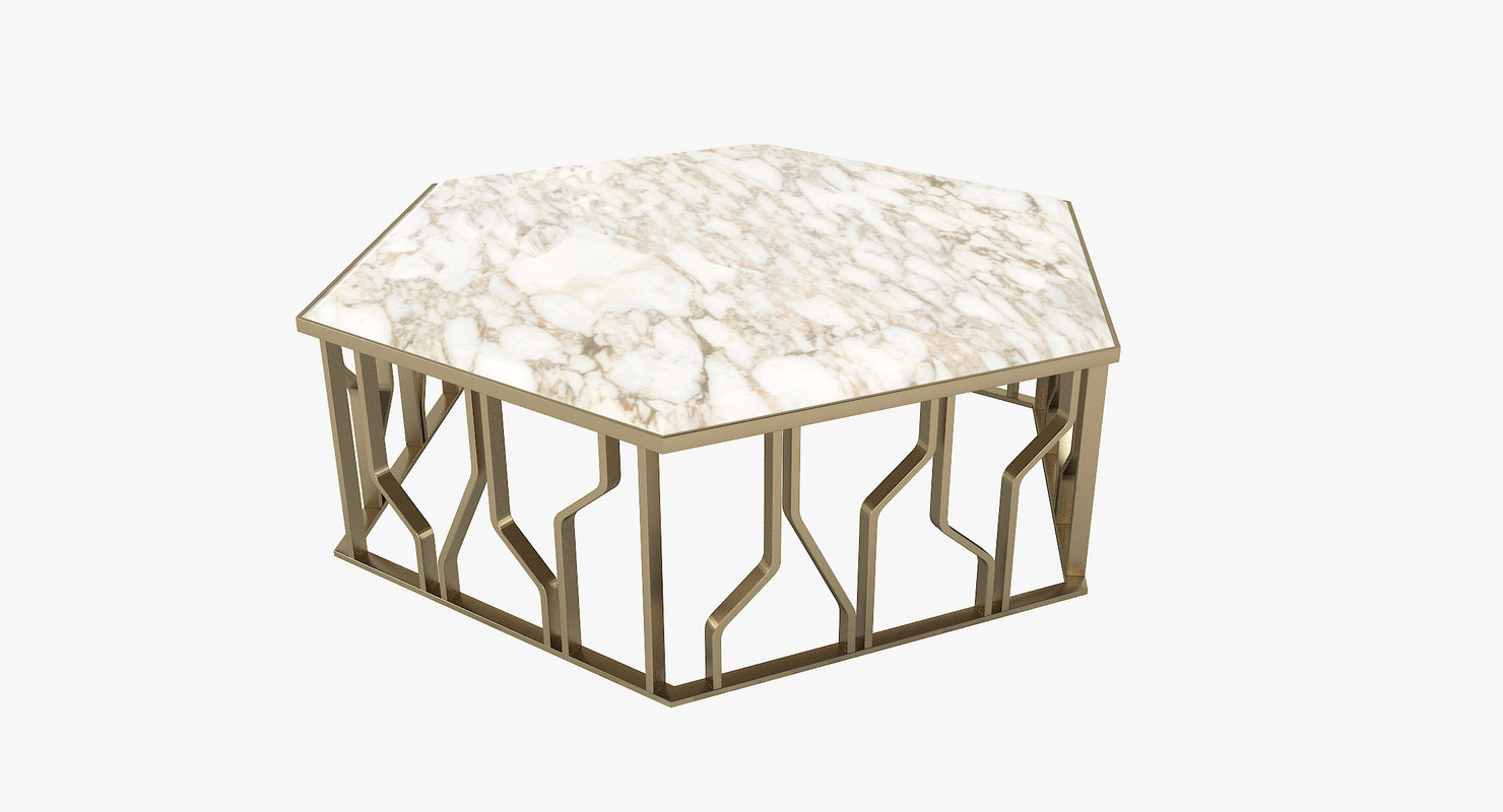 longhi ginza designer coffee table 3D model