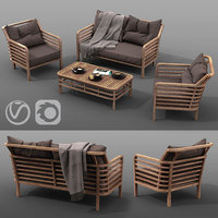 outdoor furniture set AZZURA Colorado Lounge Set