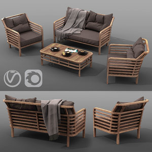 outdoor furniture set azzura 3D model