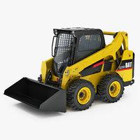 3D model skid steer loader generic