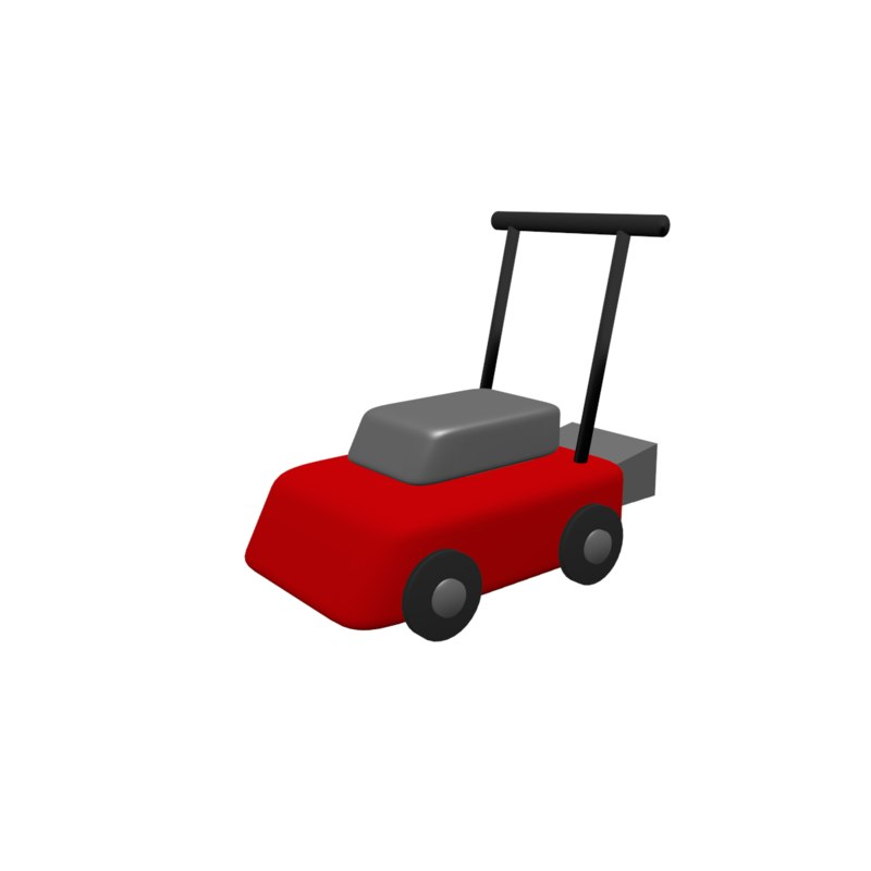 cartoon lawn mower 3D model
