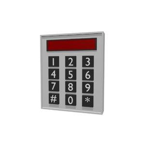 code alarm digits 3D model