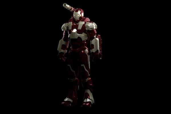 3D war machine model