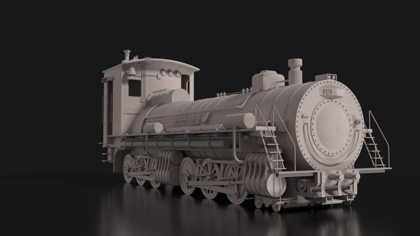 3D old train model