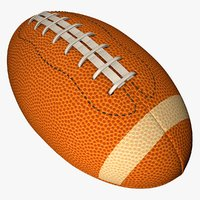 3D american football ball l011