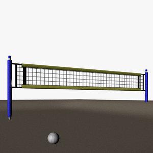 m1nn0taur beach volleyball 3D model