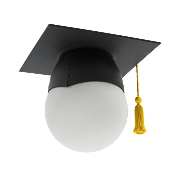 cap graduation 3D model
