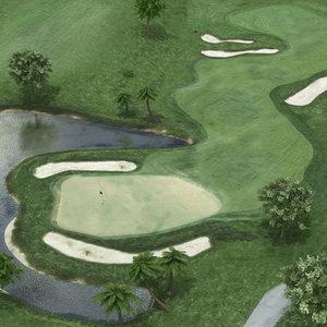 golf course 3D model