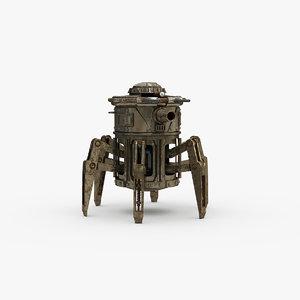 3D arachnid turret